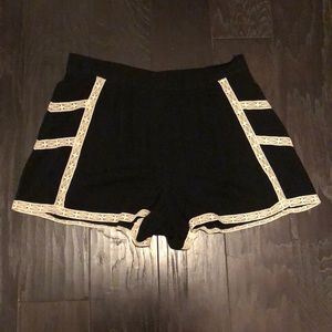 Black and White lace shorts